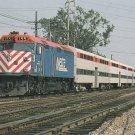 CITY OF HIGHLAND PARK Postcard Locomotive #155 Chicago's Regional Transportation Authority