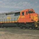 Postcard Quebec North Shore & Labrador Railway Train No.  301