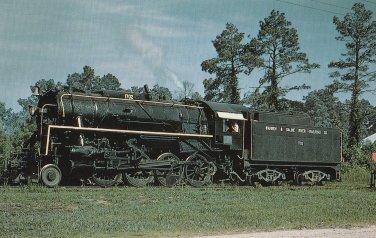 Warren and Saline River Railroad Copany Number 1702 Train Postcard