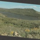 Half Moon Lake From Skyline Drive Postcard Wyoming Mountain Scenic