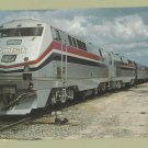 "Amtrak's Auto Train AMP-103 ""Genesis"" Units 800 & 801 Postcard Railroad Locomotive"