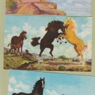 Three Horse Postcards From Paintings Very Nice Stallions American West