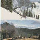 Two Postcards CUMBRES & TOLTEC SCENIC RAILROAD No. 487 & 484 Trains Locomotives