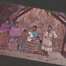 Seminole Indian Family Postcard Native American Silver Springs Florida