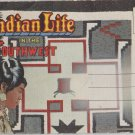 Indian Life in the Southwest Postcard Folder Linen Vintage Apache Navajo Pima