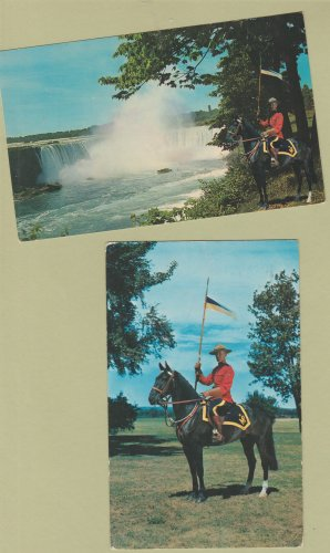 Two Royal Canadian Mounted Police Postcards Niagara Falls Horses