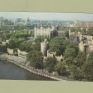 Postcard TOWER OF LONDON RPPC Aerial View England United Kingdom