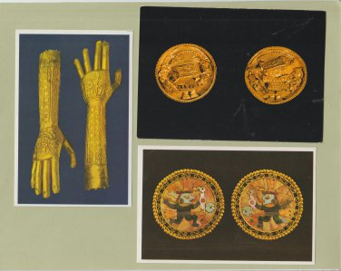 Lot of 6 Gold Artifacts Postcards Chimu Peru Machica Mexico