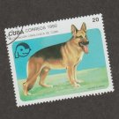 Art Postage Stamp From Caribbean 1992 German Shepherd Alsation CTO
