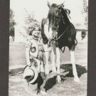Shirley Temple Child Actress Cowgirl And Pinto Pony Horse Postcard