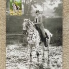 Mary Astor Actress And Leopard Appaloosa Horse Photo Postcard