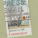 U.S. Bicentenary Stamp 22c Connecticut Scott #2340 1988 Used