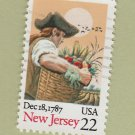 U.S. Bicentenary Stamp 22c New Jersey Scott #2338 1988 Used