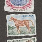 Three Monaco Horse Stamps MNH VF