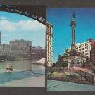 Cleveland Ohio RPPC Postcards Historic Buildings Public Square Teminal Tower