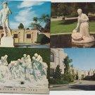 4 Postcards RPPC FOREST LAWN MEMORIAL PARK Cemetery Scenic Glendale California