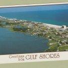GULF SHORES POSTCARD GREETINGS ALABAMA AERIAL PANORAMIC VIEW