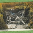EAGLE RIVER POND AND DAM POSTCARD MICHIGAN SCENIC WATERFALL