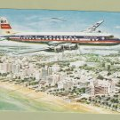 National Airlines DC-7 Star Postcard Vintage Aviation Airplane