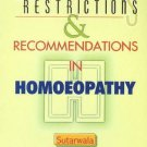 Dietetic Restrictions & Recommendations in Homoeopathy [Dec 01, 2002] Sutarwa