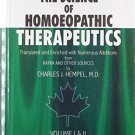 The Science of Homeopathic Therapeutics [Hardcover] [Jun 30, 2004] Hempel,