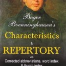 Boger Boenninghausen's Characteristics Materia Medica & Repertory With Word