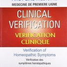 Clinical Verification: Verification of Homeopathic Symptoms [Paperback] [Apr