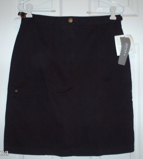 NWT New Jones Sport Black Cargo Skirt Size 4 Nice!!