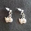 Kitty Cat Dangle Earrings