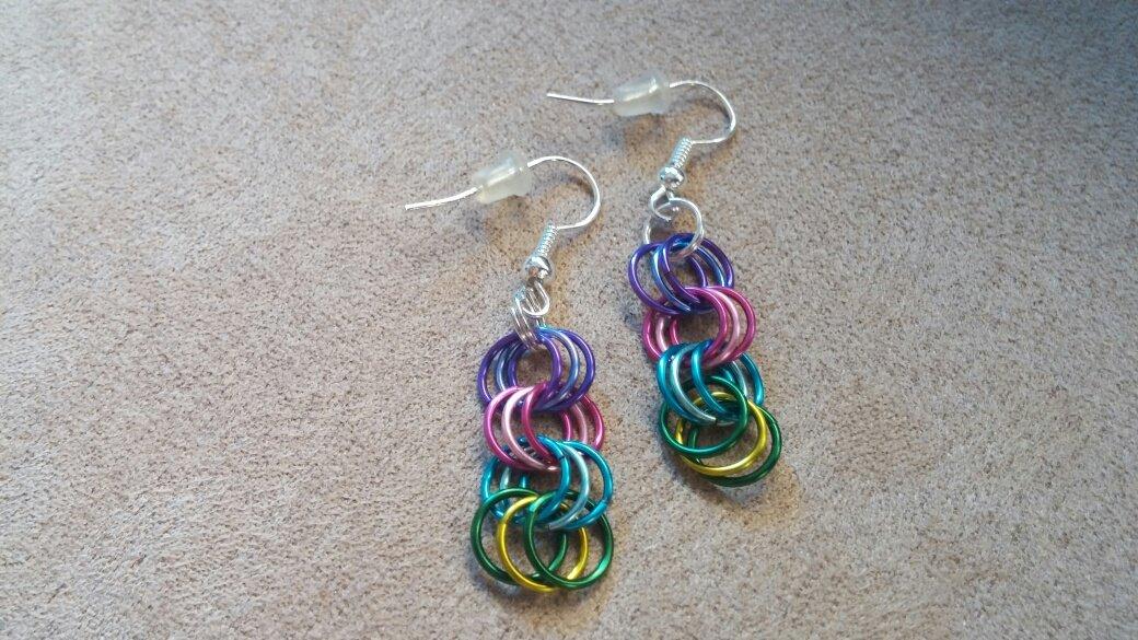 Colorful Rings - Dangle Earrings