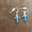 Angel Earrings - Blue Crystal