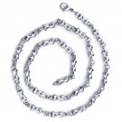 Men's Stainless Steel Dumbbell Link Chain - 22 Inch