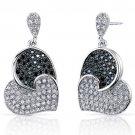 Sterling Silver 5.22 Carats Heart Shape Earrings