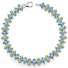 Sterling Silver London Blue Topaz & Peridot Bracelet