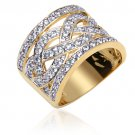 Gold Vermeil Cubic Zirconia Weave Ring