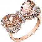 14K Rose Gold 4.25 Carat Heart Shape Morganite Ring