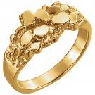 14K Yellow Gold Men's Nugget Ring