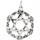 Sterling Silver 30.58mm Star of David Pendant
