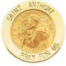 14K Yellow Gold St. Anthony Lapel Pin