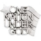 """Sterling Silver """"One Nation Under God"""" Lapel Pin"""