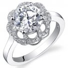 Sterling Silver 2.36 Carats Round Shape Engagement Ring