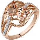 14K Rose Gold 1.50 Carat Pear Shape Morganite Ring