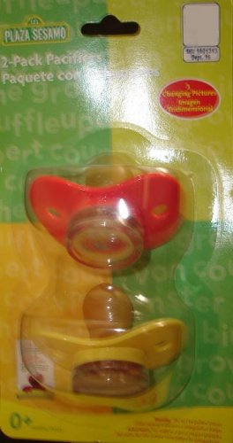 2 Pack Plaze Sesamo Pacifiers