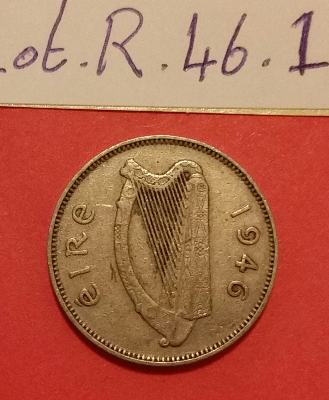 "Pre-decimal Irish ""Reul"" / half shilling or sixpence.  �ire coin"