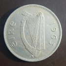 "Irish pre-decimal ""Leath Choróin"" or half crown. Éire Harp and ""Irish Hunter"""