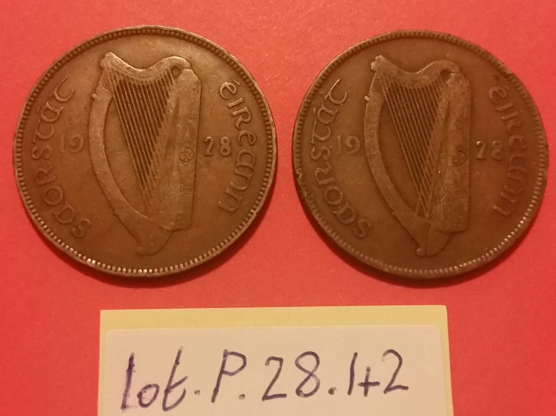 2x pingin / penny Irish Saorstát �ireann 1928
