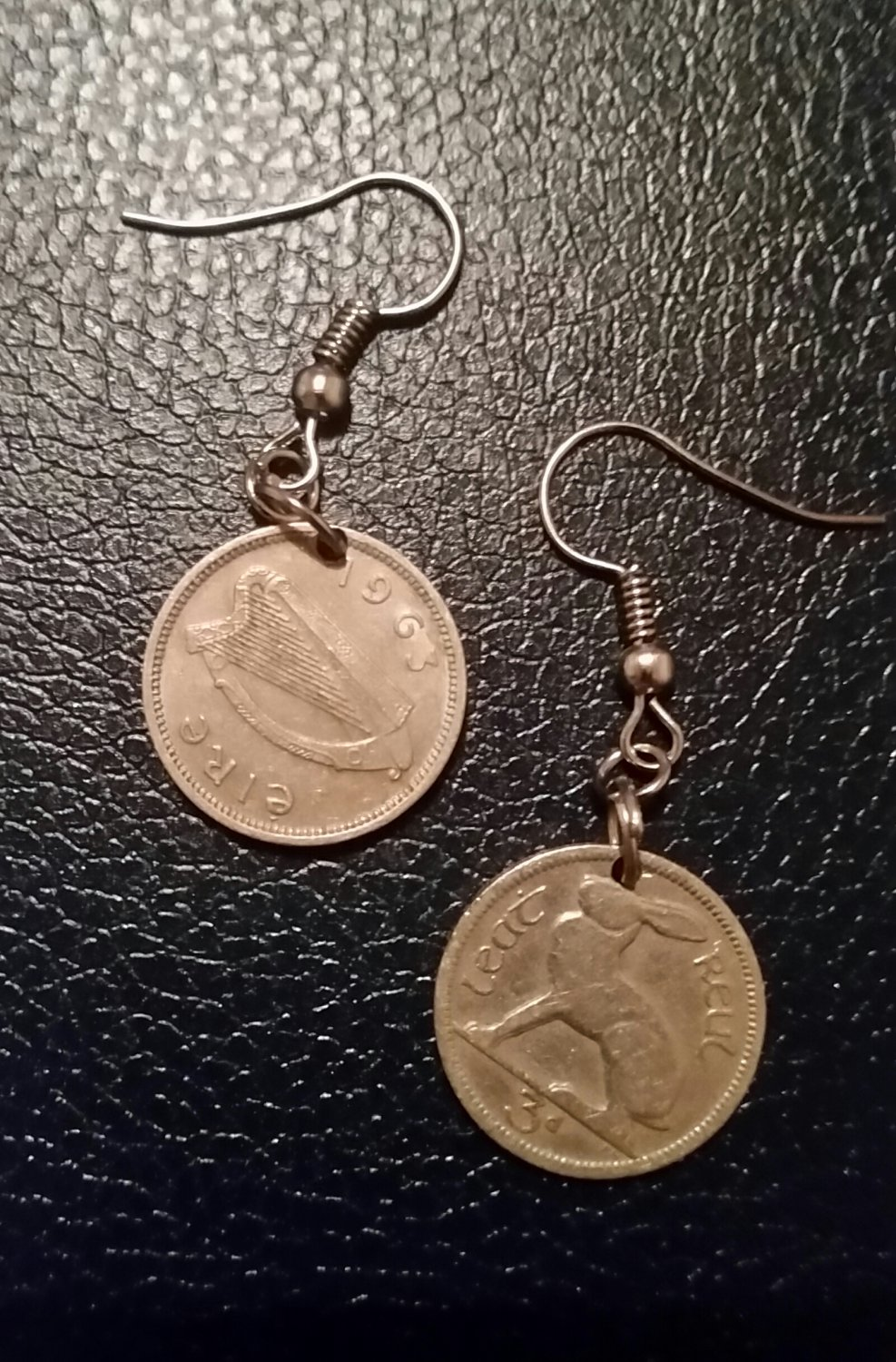 Irish pre-decimal coin jewellery Earrings