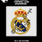 Real Madrid Football Club logo crochet graphghan pattern