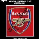 Arsenal Football Club logo crochet graphghan pattern