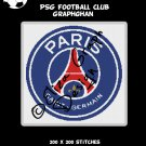 PSG (Paris Saint-Germain) Football Club logo crochet graphghan pattern